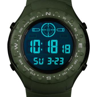 6fe843ad25a5 INFANTRY Mens LCD Digital Wrist Watch Chrono Alarm Army Tactical Green  Rubber