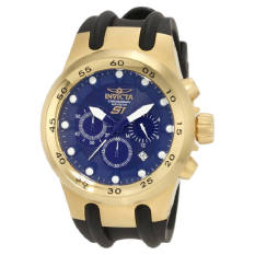 Invicta Men's 1510 Specialty S1 Chronograph Blue Dial Black Polyurethane Watch (Intl)