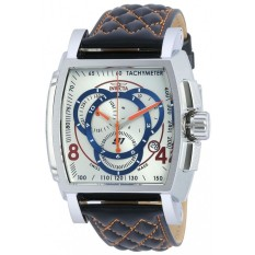 INVICTA S1 Rally IN-19516 Men's Leather Antique Silver Dial Watch - Intl