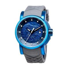 Invicta S1 Rally Men 48mm Case Blue, Grey Silicone Strap Blue Dial Automatic Watch 18214 (Intl)
