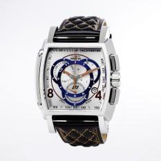 Invicta S1 Rally Men Black, Orange Leather Strap Antique Silver Dial Quartz Watch 19516