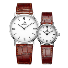 Iooilyu A Couple Of Genuine Love ADA Watches Price Leather Belt Men And Women On The Table Are Thin Waterproof Quartz Lovers Watch (Couple Watch)