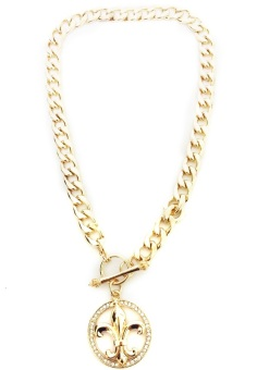Istana Accessories Paula Chain Fashion Necklace - Gold (One Size)