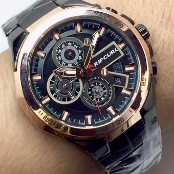Jam Tangan Fashion Pria RipCurl - RC7788-ZS Chronograph Stainless Steel Black