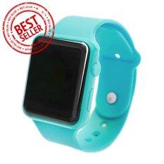 Jam Tangan LED - Jam Tangan Pria dan Wanita - Strap Karet - Hijau Tosca - Apple_Tosca