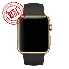 Jam Tangan LED - Jam Tangan Pria dan Wanita - Strap Karet - Hitam Emas - Apple_Black_Gold