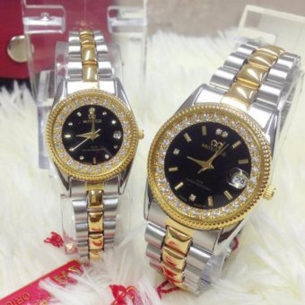 Jam Tangan Mirage couple-MRG 1133 BL- strap Stainless By Blackjoker