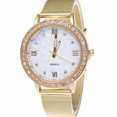 Jam Tangan Pasir DIAMOND LINE Fesyen Gold Fashion Watch Cowo Elegan Hot Trend