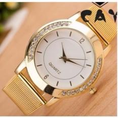Jam Tangan Pasir Emas Fesyen Gold Fashion Watch Cowo Elegan Hot Trend (Gold)