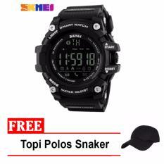 Jam Tangan Sport Fitnes Pria Smartwatch With Bluetooth + Free Topi Polos Snaker