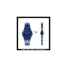 Swatch Jam Tangan Wanita Biru Biru Rubber Biru Gn245 Squelette Blue ... bd22a27659