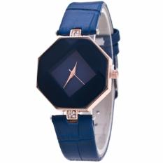 Jam Tangan Wanita 541727 Fashion Faux Leather Luxury Women Analog Quartz - Biru