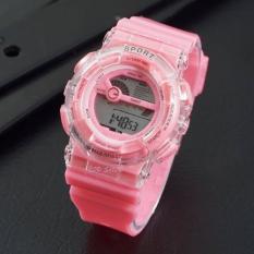 Jam Tangan Wanita / Cewek QQ Sport Ladies Rubber Pink 04725TSHP
