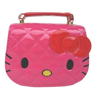 JCF Tas Anak Branded Fashion Helo Kiti Kids Sling Bag Import - Pink Fanta