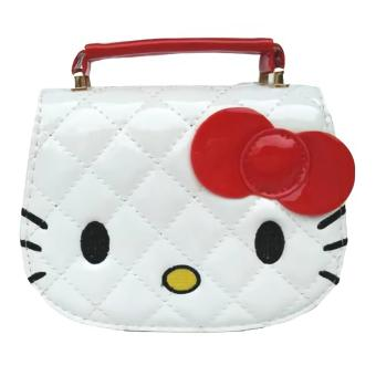 JCF Tas Anak Fashion Helo Kiti Kids Sling Bag Import - White