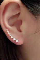 Jetting Buy Wanita Anting-Anting Berlian Imitasi Kristal Perak
