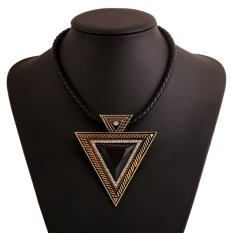 Jewelry Chain Big Triangle Statement Geometric Pendant Necklace Women Costume FD (Intl)