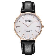 Jiage Bontek Electronic CITOLE Watch Leisure Men's Watch Belt Bijou Minimalist Fashion Men's Watches Ladies Quartz Watch Watch Lovers Table 1001 Mens Black
