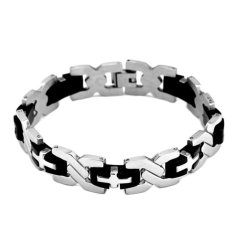 Jiayiqi Aliexpress Hot Sale x Type Stainless Steel Titanium Steel Mens Bracelets (Intl)
