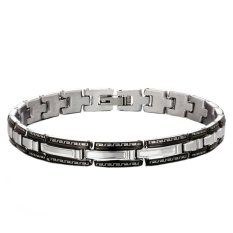 Jiayiqi Fashion Design Cool Hip-hop Titanium Steel Stainless Steel Bangles Bracelet (Intl)