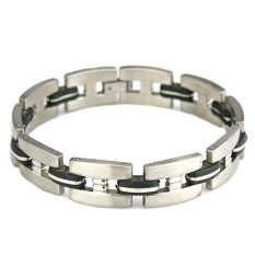 Jiayiqi H Type Chain New Hot Sales Titanium Steel Stainless Steel Mens Bracelet (Intl)
