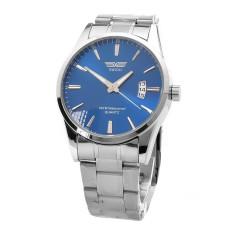 JinGle Men's Stainless Band Analog Wrist Watch (Blue)