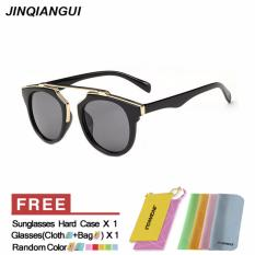 JINQIANGUI Sunglasses Women Cat Eye Sun Glasses BlackGrey Color Brand Design