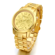 GE Ladies Women Girl Stainless Steel Quartz Wrist Watch 4 Colours (Gold)