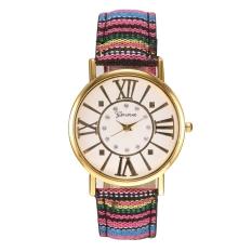 Jo.In New Women National Style Round Wristwatch Quartz Battery Analog Casual Sports Watch - Intl