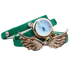 GE Wing Bracelet Watch Quartz Movement Wrist Watch For Girl Women (Green) (Intl)