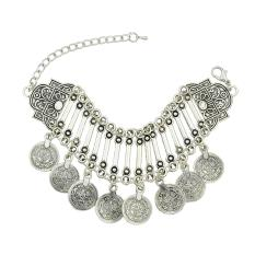 Joywish Indian Style Coins Charms Chunky Chain Link Bracelets - Intl