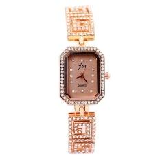 JW Women's Square Fashion Simple Diamond Bracelet Watch Rose Gold - intl