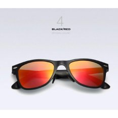 Kacamata Pria Hitam Alumunium Polarized 2140 UV 400 Gratis Pouch