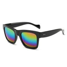 Kacamata Retro Klasik Olahraga Pria Wanita Pria Desainer Merek Kacamata Matahari Square Lapisan Kaca Mata Hitam