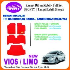 Karpet Mobil Mie Bihun VIOS / LIMO Non Bagasi - Bahan 1 Warna