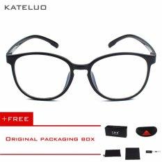 KATELUO retro EyeswearTR90 anti-Komputer Biru kelelahan laser radiasi-tahan Kacamata Kacamata 9300 (Hitam