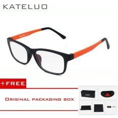 KATELUO TR90 anti-Komputer Biru kelelahan laser radiasi-tahan kacamata kacamata bingkai Oculos di Grau de 9219 (Jeruk) [membeli 1 mendapatkan 1 hadiah]