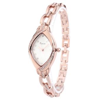 KIMIO KW6010S-RG01 Women's Elegant Rhinestone Bracelet Quartz Watch Fashion Ladies Dress Watches - Rose Gold+White
