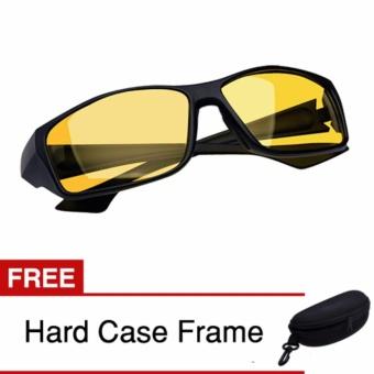 Klikoto Kacamata Anti Silau Night Driving Riding Glasses Limited Edition Yellow .