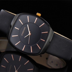 Kobwa A Foreign Trade On Behalf Of Ely 000 Everyone Barrel Type Dial Leather Watchband TREND WATCH QUARTZ WATCH (1 X Men Watch)