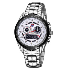 kobwa TVG brand double movement dual display with luminous timed alarm sound show week Men's Watch