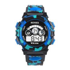 Kolam multifungsi tahan air olahraga jam tangan elektronik (biru)- International