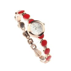 Korean Style Women Lady Cute Bunny Strap Watches Vintage Watches Red (Intl)