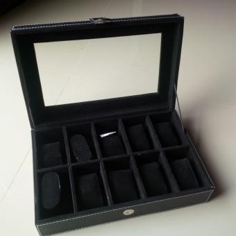 Kotak Jam Tangan Watch Box 10 Slot - Hitam