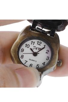 Kualitas Tinggi Gaya Retro Perunggu Tengkorak Hidup Pasangan Jam Saku Rantai Kalung Perhiasan .