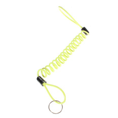 Kunci Cakram Motor Sepeda Motor Sekuter Alarm Pengingat Spring Keamanan Kabel (Kuning )