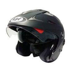 KYT Helm Half Face Forever Black Doff