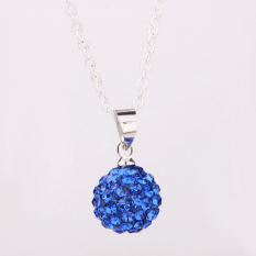Lady Girl Fashion 10mm Blue Crystal Rhinestone Charm Pendant