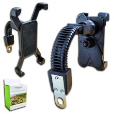 lanjar jaya Phone Holder Motor Untuk HP/GPS di sepion - Universal - Hitam