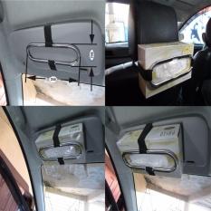 Lanjarjaya Stainless steel Tempat kotak Car Sun Visor Tissue Holder Tempat Tissue Gantung